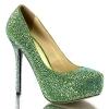 PRESTIGE-20 Green Suede/Rhinestone